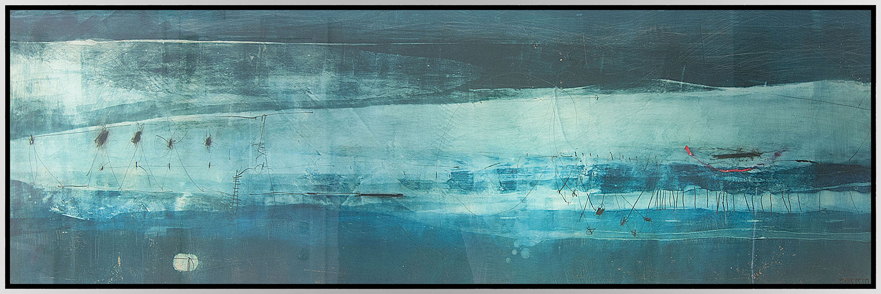 "Mixed Media on Wood Panel | 18"" X 60"" 